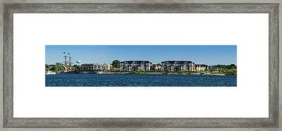 Waterfront Homes And Commercial Framed Print