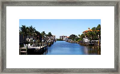 Waterfront Homes In Naples, Florida, Usa Framed Print by Panoramic Images