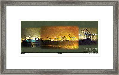 Framed Print featuring the digital art Waterfront by Kenneth De Tore