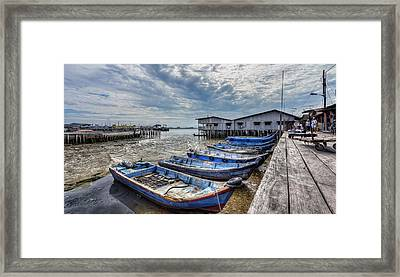 Waterfront Framed Print by Mario Legaspi