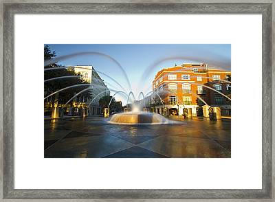 Waterfront Park Fountain Charleston Framed Print