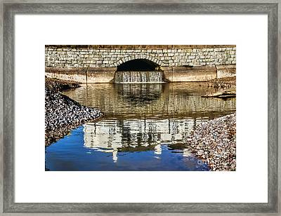 Waterfront Reflections At Sidmouth Framed Print by Susie Peek