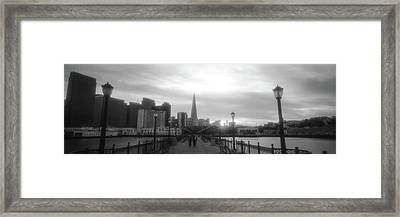 Waterfront San Francisco Ca Framed Print by Panoramic Images