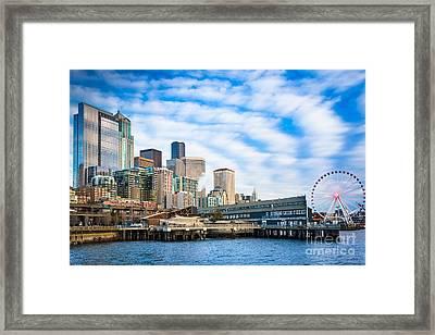 Waterfront Skyline Framed Print by Inge Johnsson