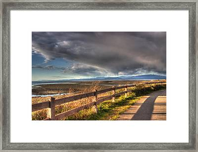 Waterfront Walkway Framed Print
