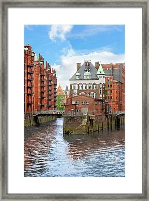 Waterfront Warehouses And Lofts Framed Print by Miva Stock