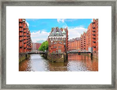 Waterfront Warehouses Framed Print by Miva Stock
