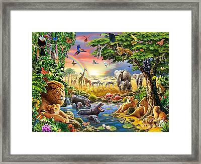 Waterhole Framed Print by Adrian Chesterman