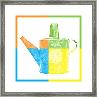 Watering Can Pop Art Framed Print