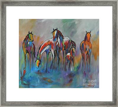 Watering Hole 2 Framed Print by Cher Devereaux