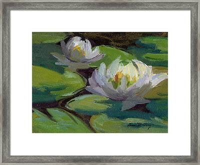 Waterlilies At Martha Lake 1 Framed Print