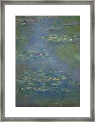 Waterlilies, Detail, 1903 Framed Print by Claude Monet