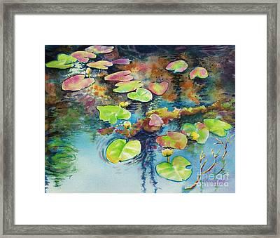 Waterlilies In Shadow Framed Print