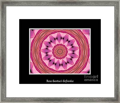 Waterlily Flower Kaleidoscope 3 Framed Print by Rose Santuci-Sofranko
