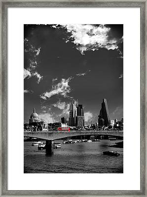 Waterloo Bridge London Framed Print by Mark Rogan