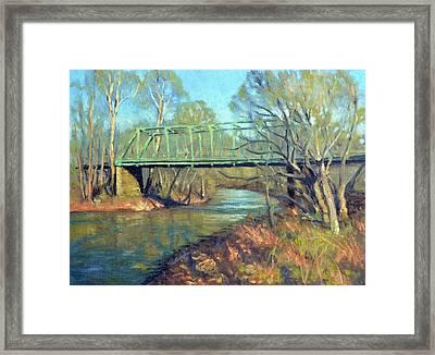 Waterloo Bridge Spring Framed Print