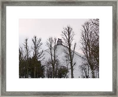Framed Print featuring the photograph Waterloo Lion Monument by Deborah Smolinske