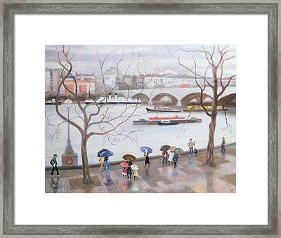 Waterloo Promenade Framed Print by Terry Scales