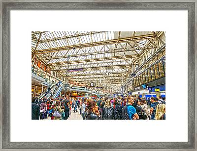 Waterloo Station Framed Print by Andrew Middleton
