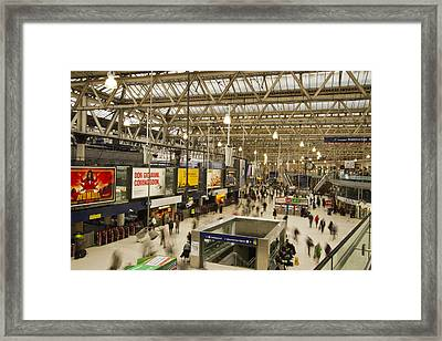 Waterloo Station London Framed Print by David French