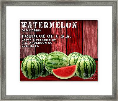 Watermelon Farm Framed Print