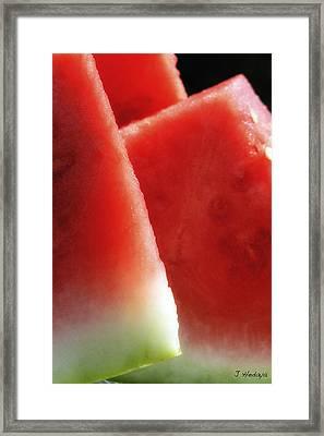Watermelon Heaven Framed Print by Joseph Hedaya