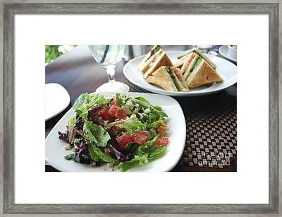 Watermelon Salad Framed Print by Heather Kirk