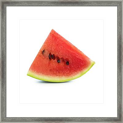 Watermelon Framed Print by Science Photo Library