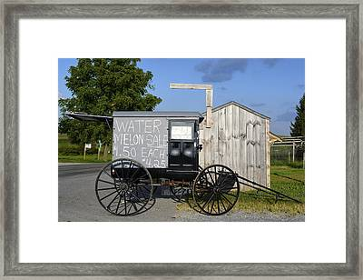 Watermelon Wagon Framed Print
