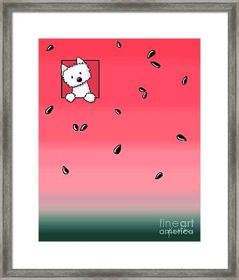 Watermelon Westie Framed Print