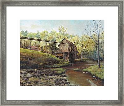 Watermill At Daybreak  Framed Print