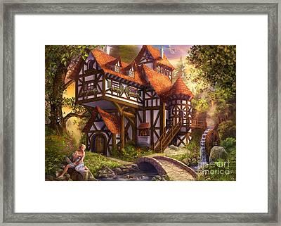 Watermill Framed Print by Drazenka Kimpel