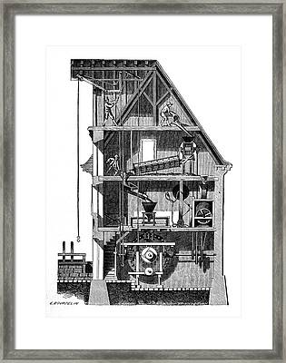 Watermill Framed Print by Science Photo Library