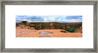 Waterpocket Pools, Canyon De Chelly Framed Print by Panoramic Images