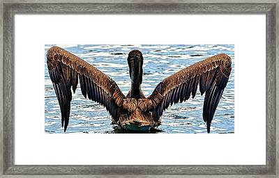 Waterproof Feathers Framed Print