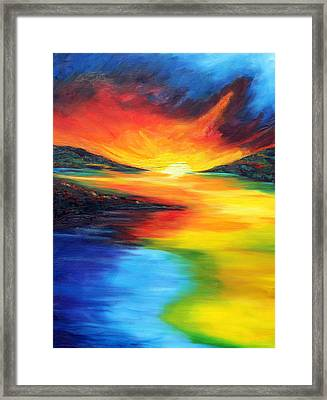 Framed Print featuring the painting Waters Of Home by Meaghan Troup