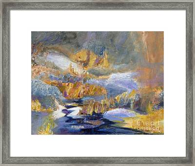 Waters Of March Framed Print