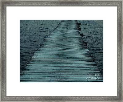 Water's Path Framed Print