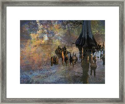Waterscape-cypress Knees Framed Print