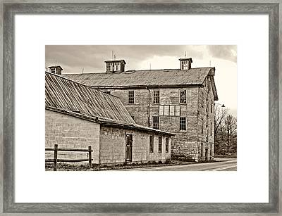 Waterside Woolen Mill Framed Print by Steve Harrington