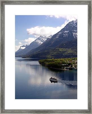 Waterton Cruise Framed Print