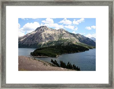 Waterton Lake Framed Print by Carolyn Ardolino