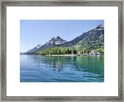 Waterton Townsite Framed Print