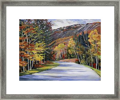 Waterville Road New Hampshire Framed Print