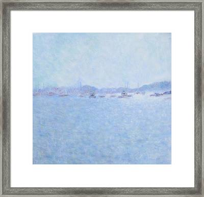 Waterway Of Beautiful France Framed Print