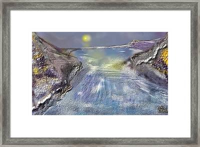 Waterway Rush Framed Print by Gregory Steward
