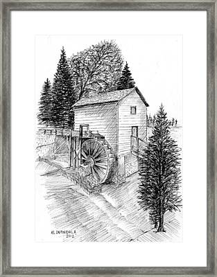 Waterwheel Framed Print