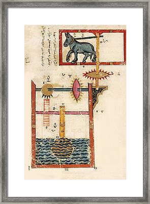 Waterwheel Powered By Donkey, 12th Framed Print
