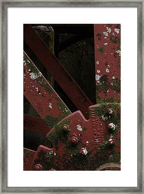 Framed Print featuring the photograph Waterwheel Up Close by Daniel Reed