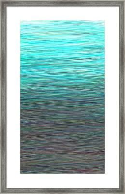 Watery Deep Framed Print by Will Borden